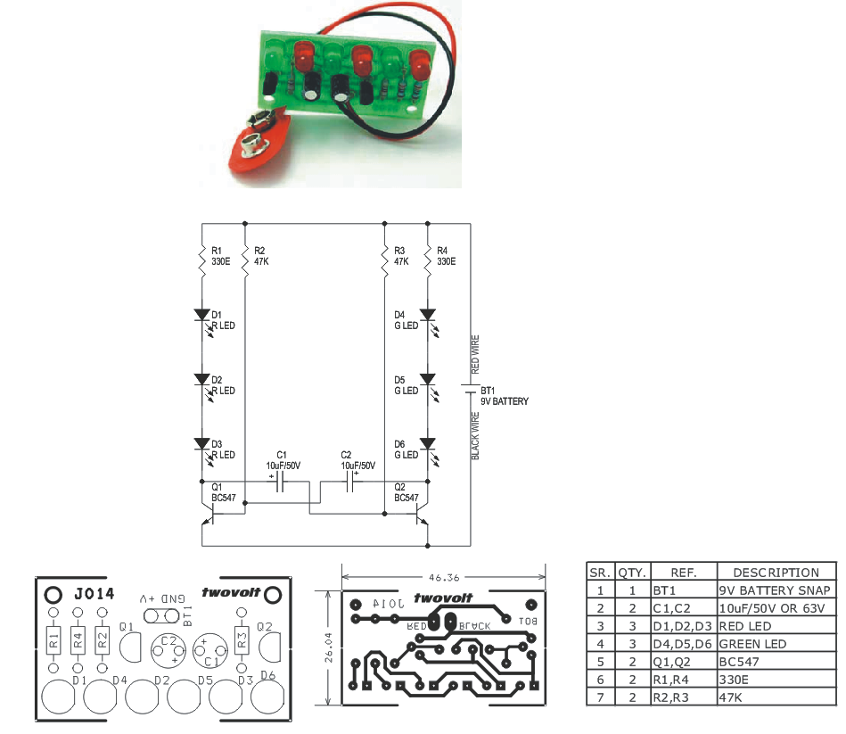 6 LEDs Flasher Circuit Using Two BC547 Transistors - Circuit Ideas I ...