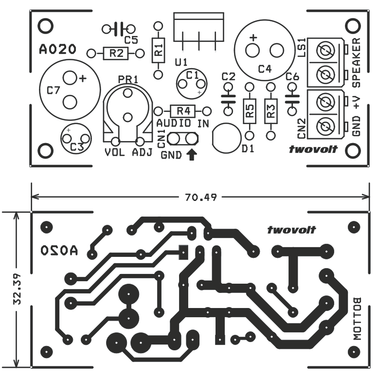 6w mono audio amplifier using tda2003