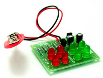 8 LED FLASHER USING BC547 TRANSISTOR