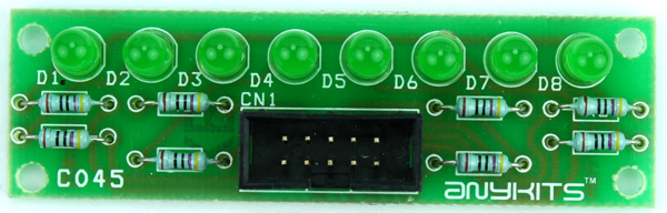 8 LED OUTPUT DISPLAY MODULE FOR MICRO-CONTROLLER DEVELOPMENT BOARD (3)