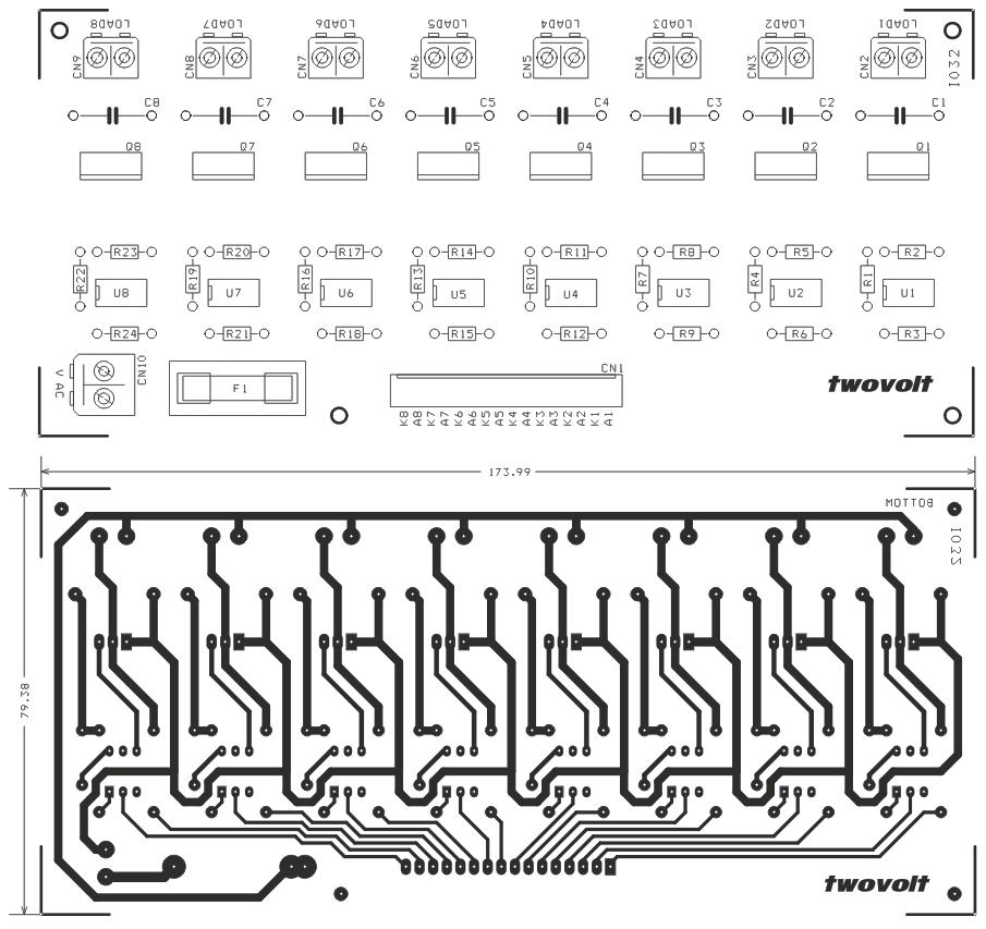 8 channel optically isolated traic board (1)