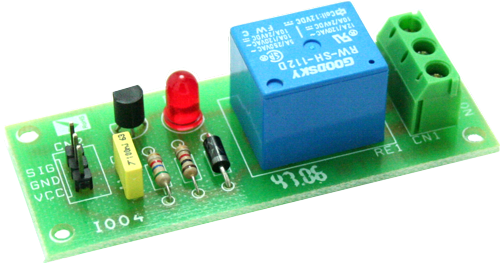 One Channel Relay Board Using BC547 (3)