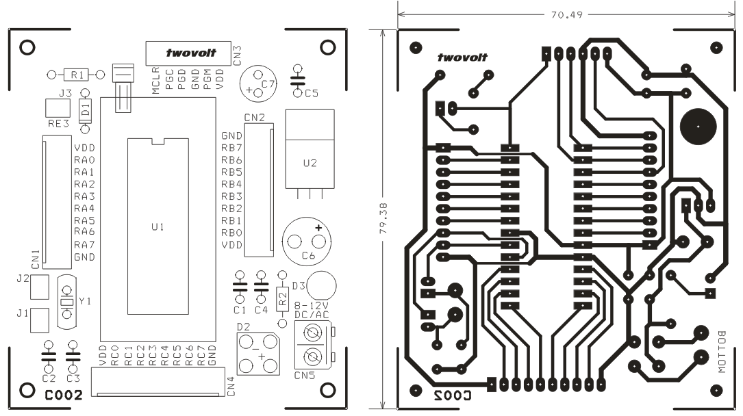PIC18F 28PIN PIC DEVELOPMENT BOARD WITH ZIP SOCKET (3)