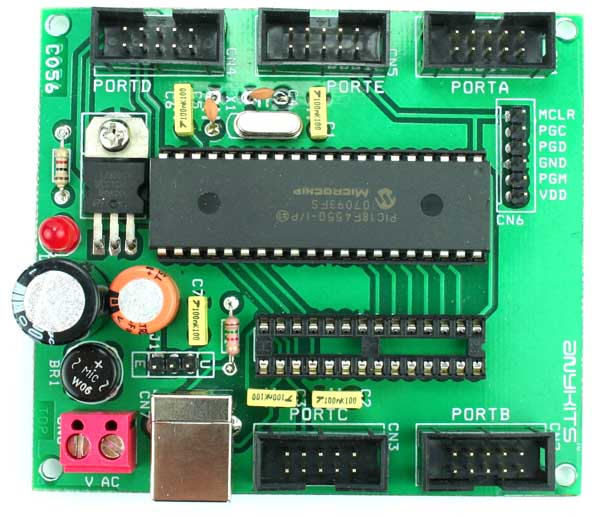 PIC18F DEVELOPMENT BOARD USING PIC 18F4550 18F2550 (1)