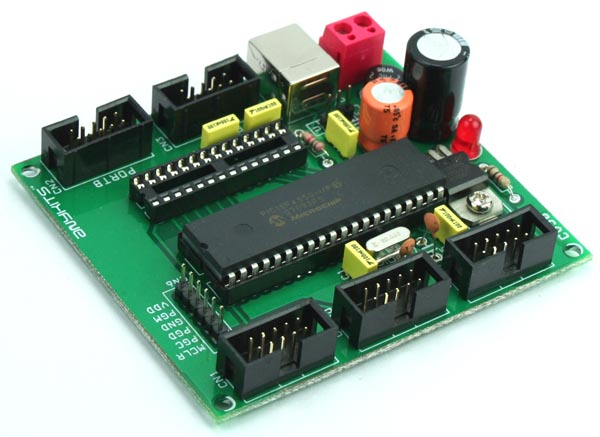 PIC18F DEVELOPMENT BOARD USING PIC 18F4550 18F2550 (2)