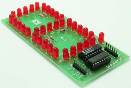 SINGAL DIGIT 7 SEGMENT LED BASED SPI DISPLAY USING 74HC595 (3)