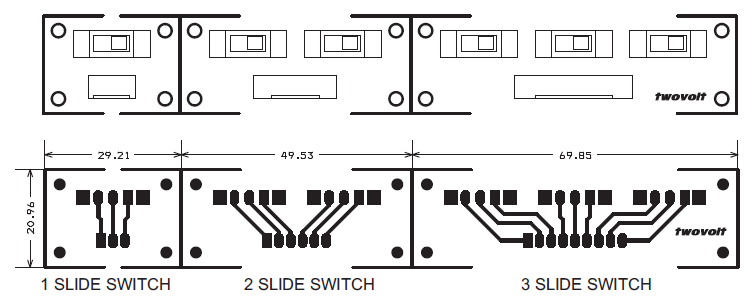 SLIDE SWITCH 1-2-3