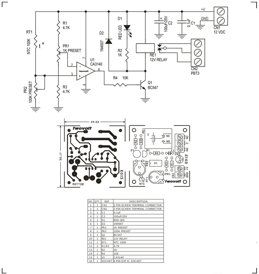 temperature sensitive switch  heat activated switch using