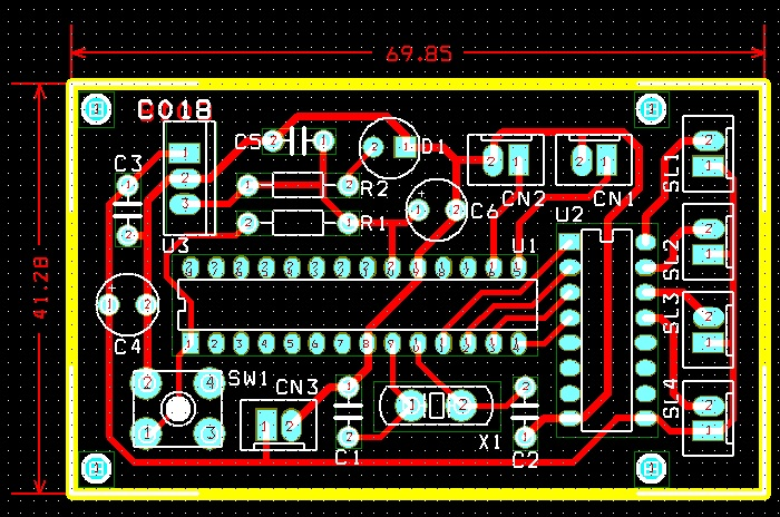 4-channel-rc-signal-to-switch-using-pic16f873-uln2003-pcb