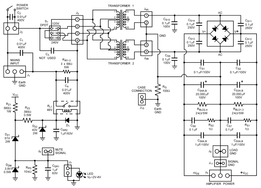 an audio amplifier power supply design
