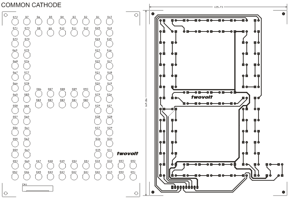 LED Based Large Size 7 Segment Various Display Schematic & PCB ...
