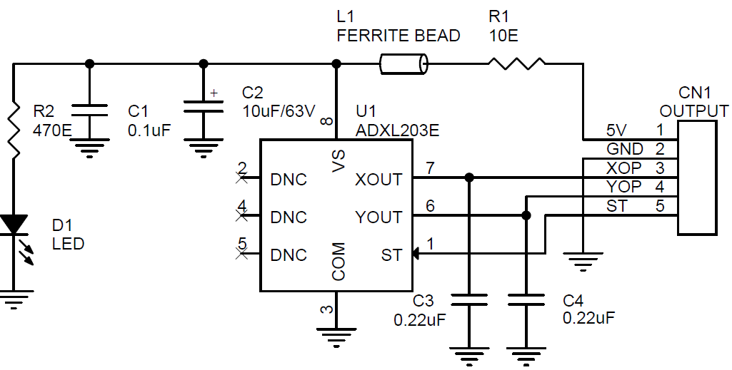 dual-axis-accelerometers-with-signal-conditioned-voltage-outputs-using-adxl203-circuit-pcb-layout-1