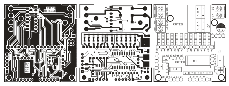 ps2-wireless-remote-robot-controller-pcb-layout