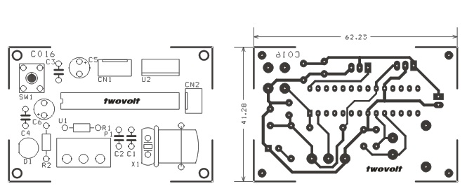 rc servo driver using pic16f673 micro-controller and pot