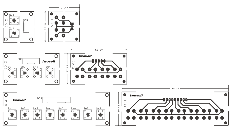 tactile switch pcb design 2 switches archives