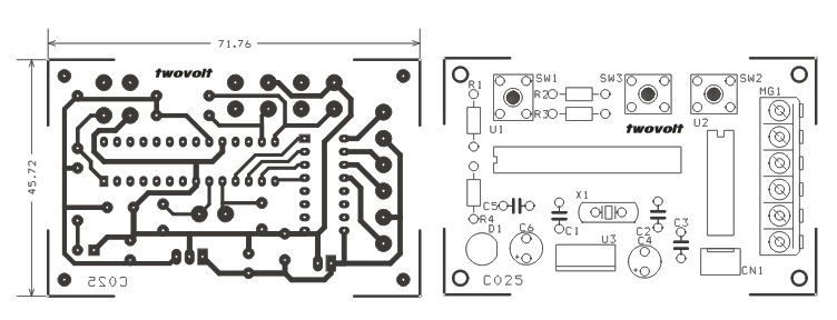 unipolar-stepper-motor-driver-schematic-using-pic16f873-and-uln2003-pcb