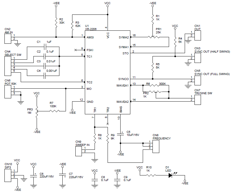 fucntion-generator-using-xr2206-circuit-pcb-layout-1