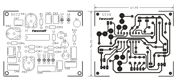 Circuito Xr2206 : Function generator using xr circuit pcb layout
