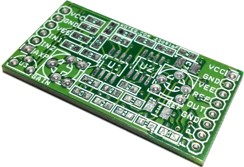 universal-deffrential-amplifier-pcb