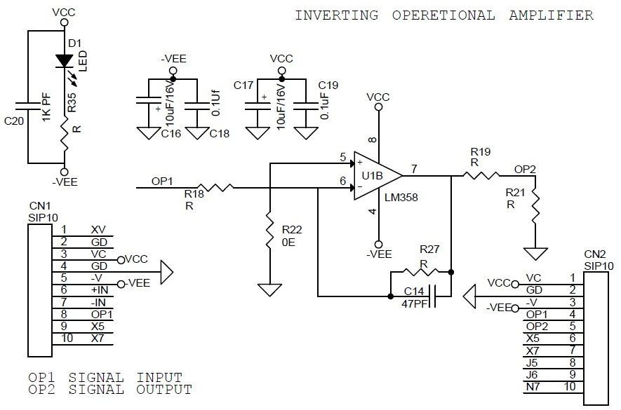 how to build a non inverting op amp circuit