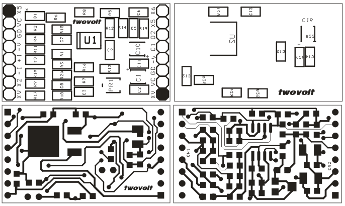 universal dual op-amp development board  u0026 schematic using smd components