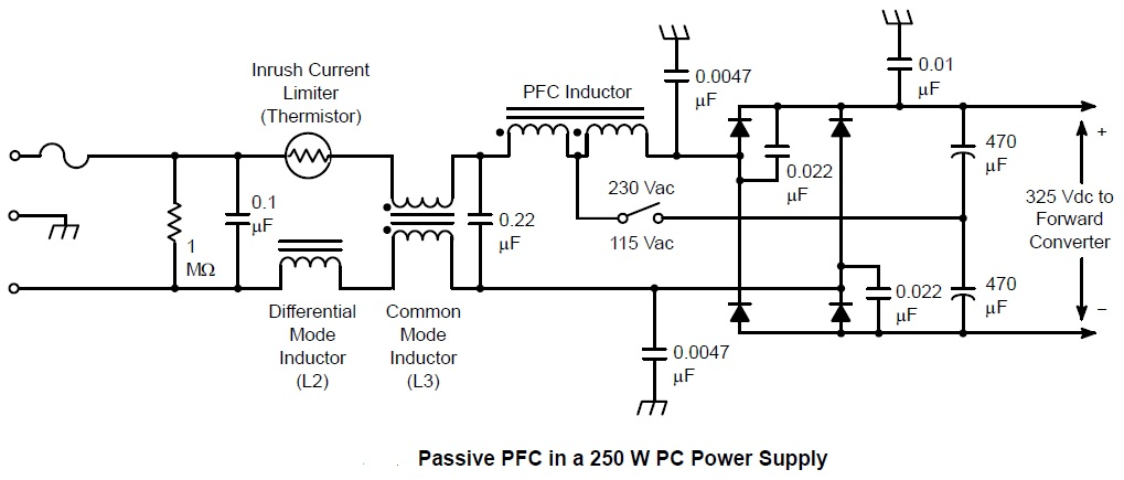 Passive Pfc In W Pc Power Supply Circuit on Mov Surge Protection Circuit Diagram