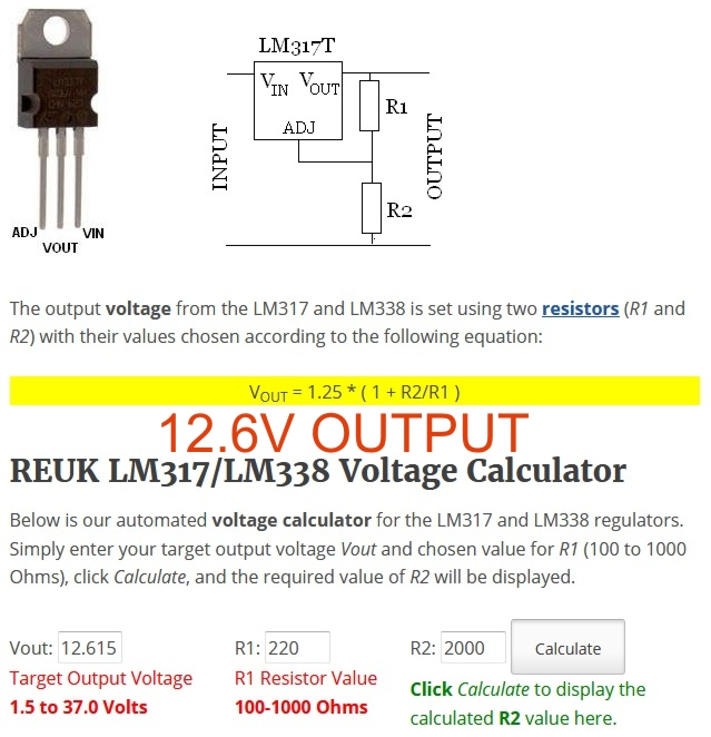 Regulated power supply archives circuit ideas i projects i sorted list of output voltages with r1 and r2 freerunsca Image collections