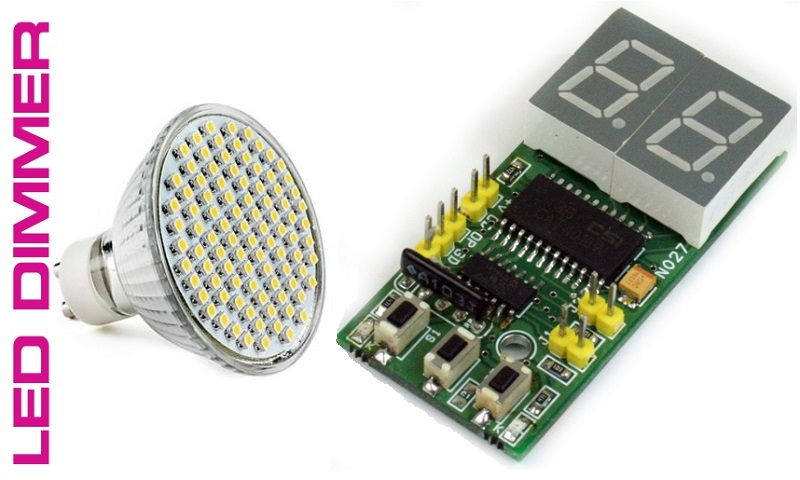 Digital LED Dimmer With 2 Digit Display Using PIC Micro