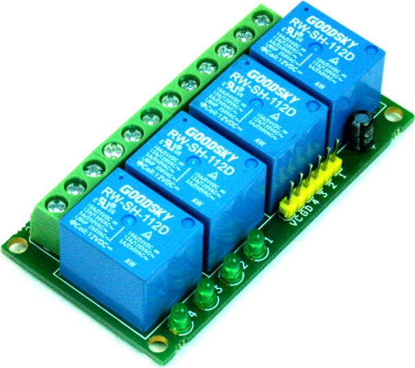 4 Channel Compact Relay Board Using Smd Components Uln2003 Circuit
