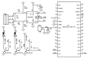 RS485 ARDUINO UNO SHIELD WITH PROTO AREA SCHEMATIC AND PCB LAYOUT (3 ...