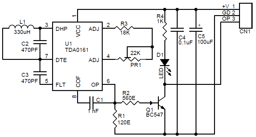 Metal Detector Schematic and PCB layout Using TDA0161