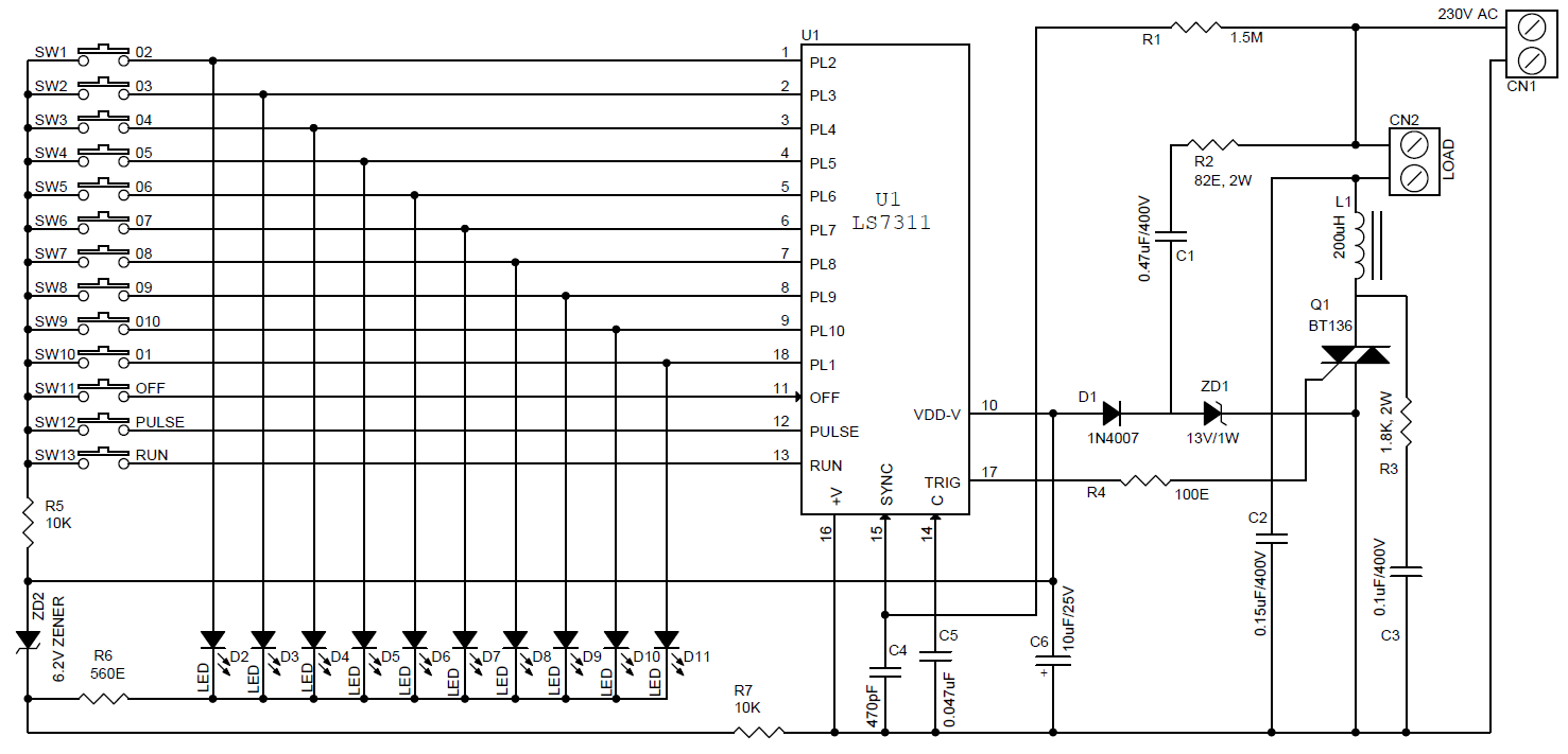 Motor Driver Ac Archives Circuit Ideas I Projects Schematics Control Diagram Together With Load Cell Download Pdf Schematic