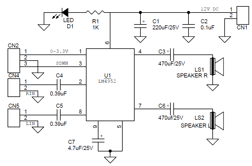 dc volume control audio amplifier circuit archives circuit ideas i