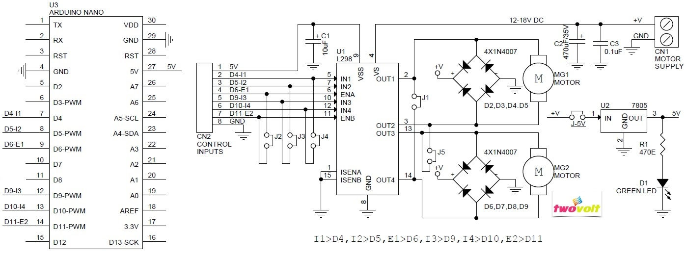 L298 Dc Motor Driver Arduino Shield Archives Circuit