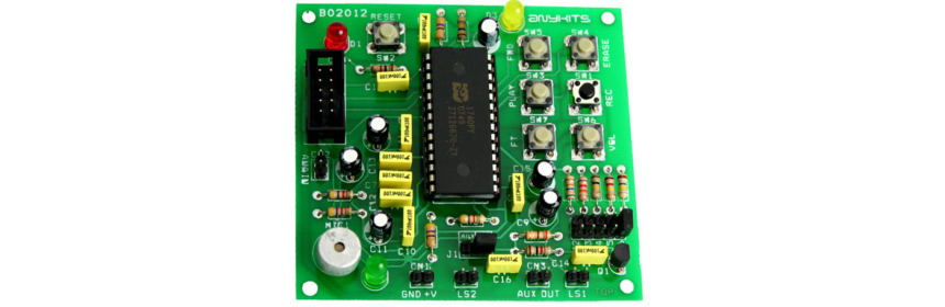 480 Seconds Voice Record/Playback Circuit with PCB Layout