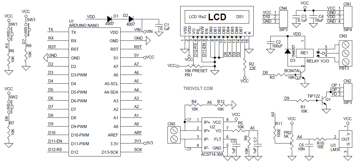 arduino LCD shield schematic Archives - Circuit Ideas I Projects I