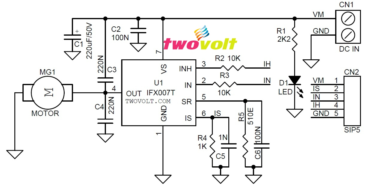electronic circuit dc motor driver using hbridge mosfet
