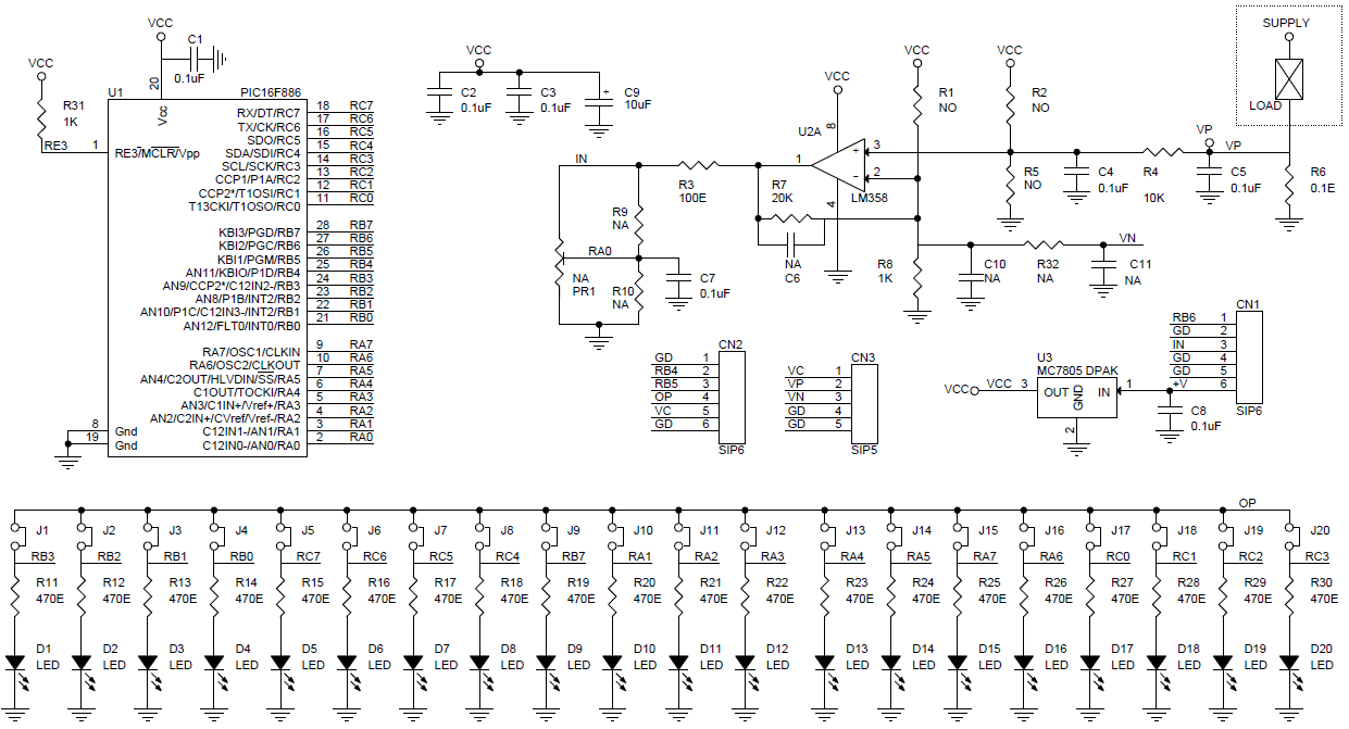 Test Gears Instruments Archives Page 2 Of 4 Circuit Ideas I 9vdc Power Supply Regulated 7 Segment Display Diagram 0 To 1amp Bar Graph Current Monitor Using 20 Leds Pic16f886 Micro Controller