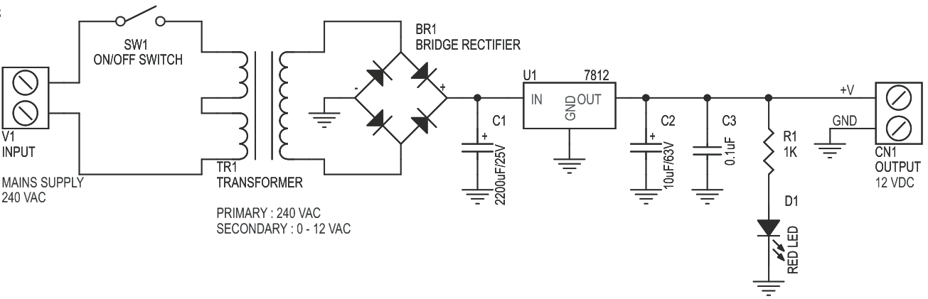 12V 700mA Regulated Linear Power Supply with On Board Transformer (3)