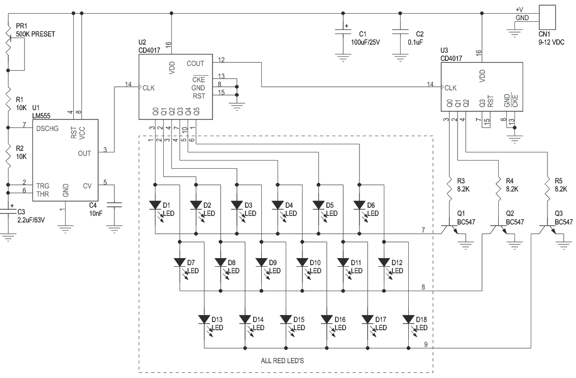 Light Effects Led Drivers Archives Page 3 Of 5 Circuit Ideas I 2 Lamp Flasher Using Mosfet 18 Based Multiplex Chasser