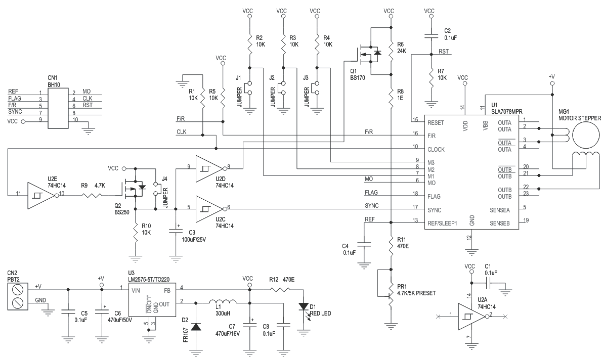 Motor Driver Stepper Archives Page 2 Of Circuit Ideas I Diagram Using 555 Timer Ic 3a Unipolar With Micro Stepping And Auto Half Current Sla7078mpr 3