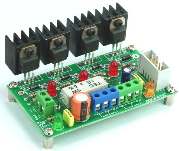 4 CHANNEL HIGH CURRENT DRIVER TRANSITOR BOARD FOR UNIPOLAR MOTOR (2)