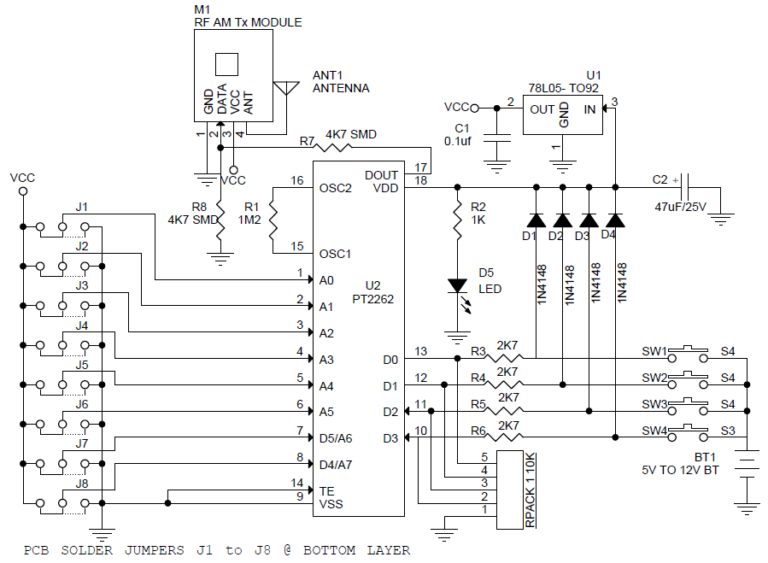 4-Channel-RF-Remote-Controller-TX-SCHEMATIC-768x563 ... on