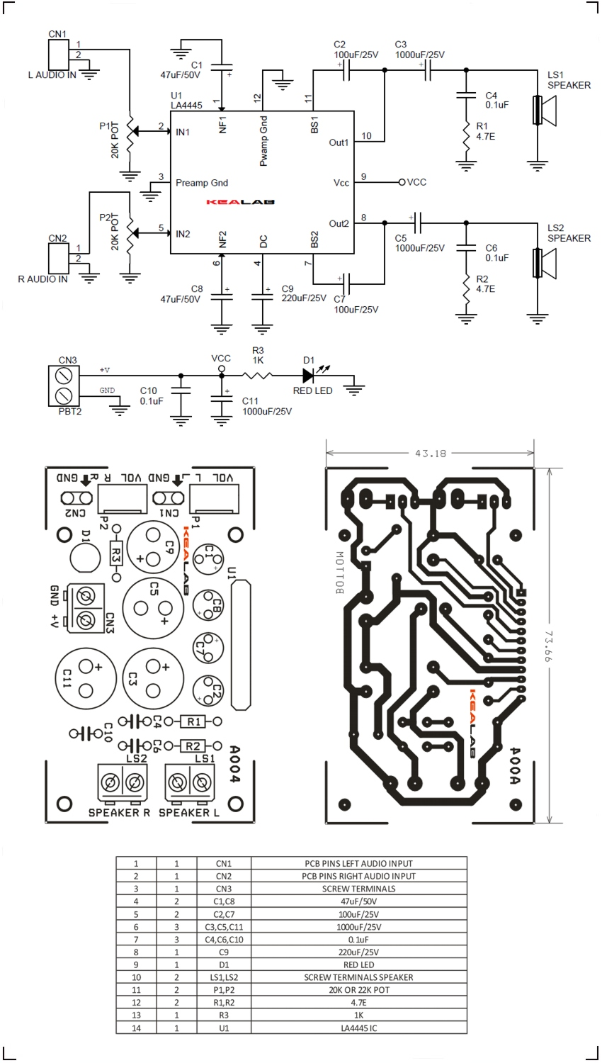 55w Stereo Audio Amplifier Using La4445 Circuit Ideas I Projects Dual Op Amp Diagram Amplifiercircuit 2 Channel Schematic
