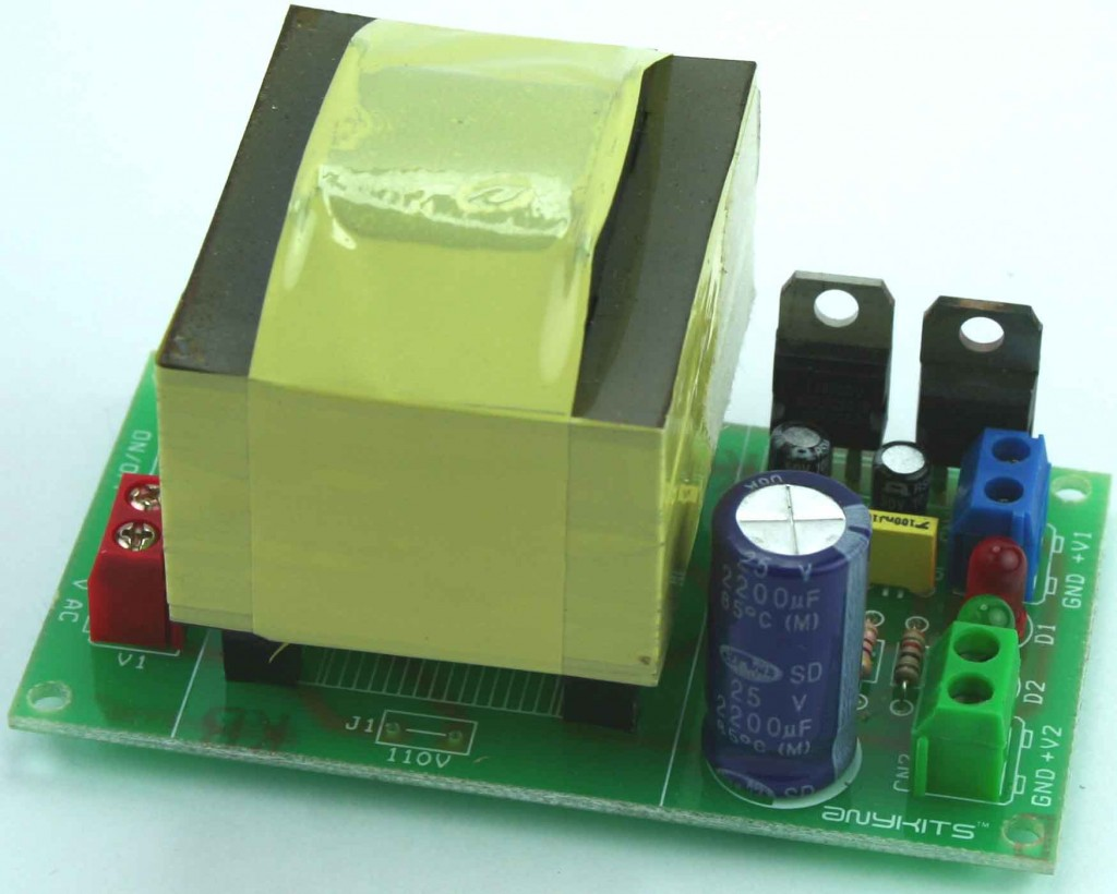 5V AND 12V 1A OUTPUT POWER SUPPLY WITH ONBOARD TRANSFORMER (2)