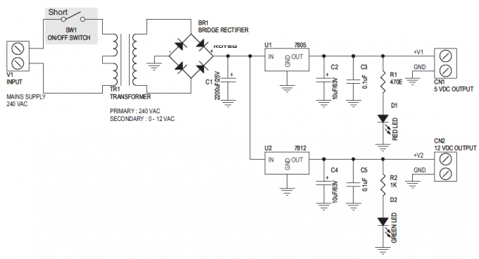 5V AND 12V 1A OUTPUT POWER SUPPLY WITH ONBOARD TRANSFORMER (4)