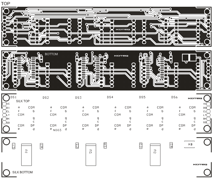 6 digit spi display using 1 inch 7 segment display and CAT4016 ic (3)