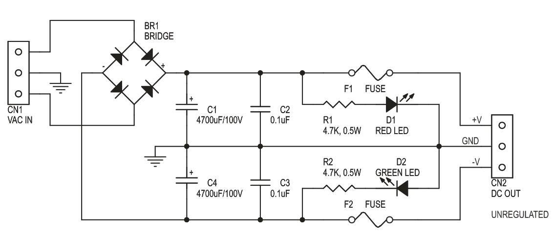 60V 5Amps Dual Unregulated Power Supply for Audio Amplifiers (3)