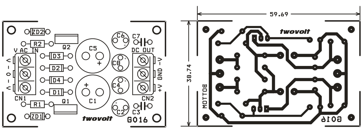 9v dual output power supply using zener and bipolar