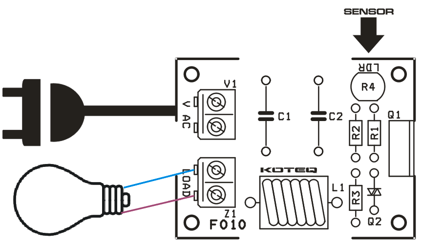 automatic dark sensitive lamp on-off switch  4